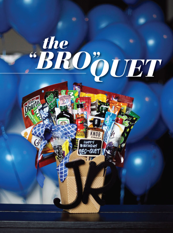 "Gifts for Guys: The ""Bro""quet"