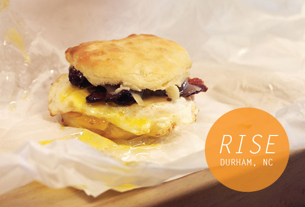 Bacon, Egg and Cheese Biscuit at Rise, Durham, NC