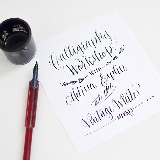calligraphy-workshop-SLC-at-vintage-whites-market
