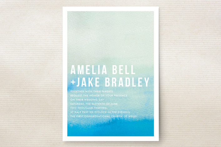 Ombre Wedding Invitation Suite