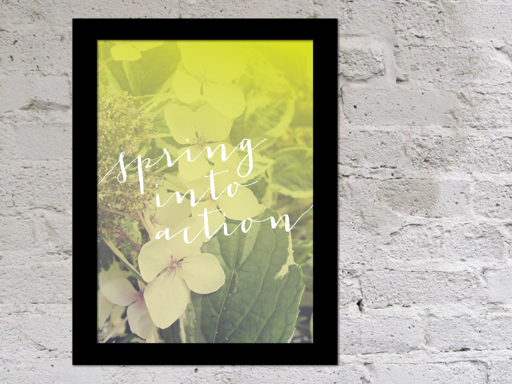 Free Home Office Printable for Spring