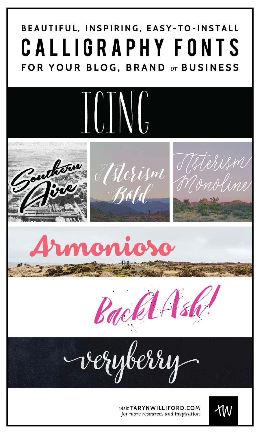 Calligraphy Fonts for Blogs and Businesses