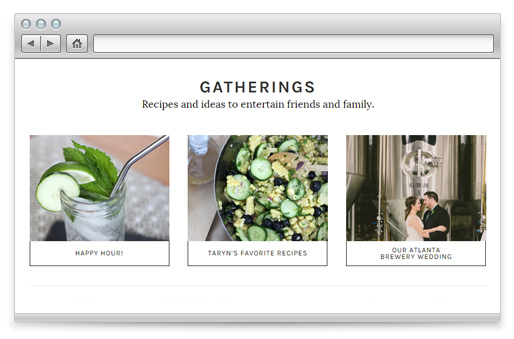 Category Menus. Blog Theme Feature.
