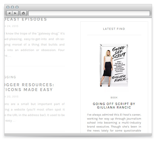 Latest Find. Blog Theme Feature.