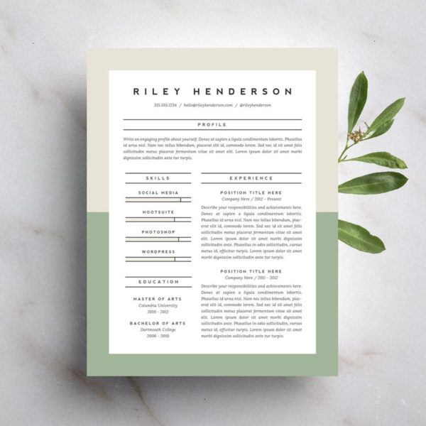 Beautiful Resume Templates build professional 15 Beautiful Resumes You Can Buy On Etsy Taryn Williford