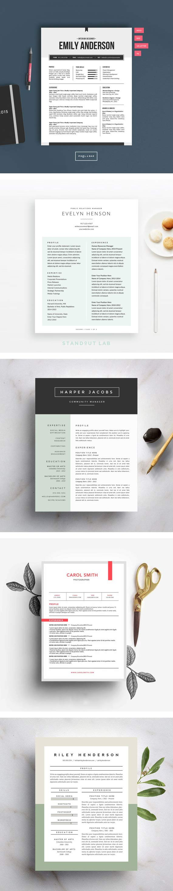 15 Beautiful Resume Templates You Can Buy on Etsy