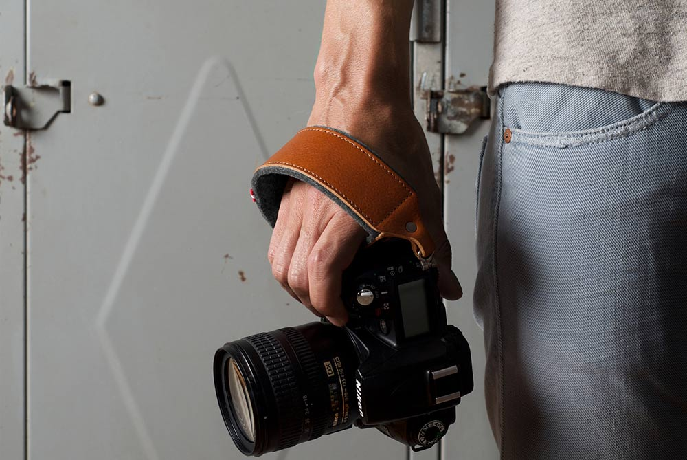 Hard Graft Hold Handle Leather Camera Strap