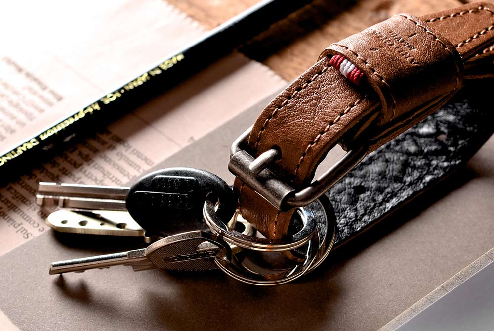 Hard Graft Leather Key Belt Keychain